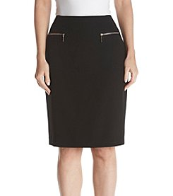 Tommy Hilfiger Zipper Pocket Pencil Skirt