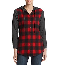 Ruff Hewn Plaid Front Bodice Hoodie