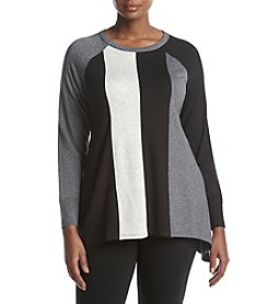 Calvin Klein Performance Plus Size Colorblock Design Sweater