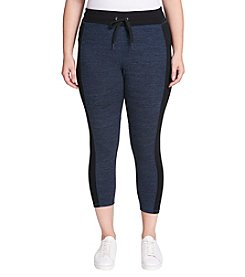 Calvin Klein Performance Plus Size Colorblock Drawstring Legging