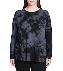 Calvin Klein Performance Plus Size Tie Dye Top