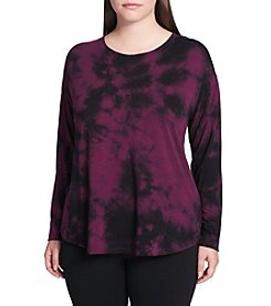 Calvin Klein Plus Size Tie Dye Pattern Top