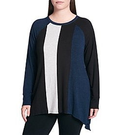 Calvin Klein Performance Plus Size Triple Color Pullover