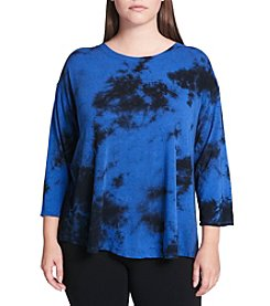 Calvin Klein Performance Plus Size Tie Dye Pattern Top