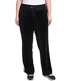 Calvin Klein Performance Plus Size Velour Track Pant