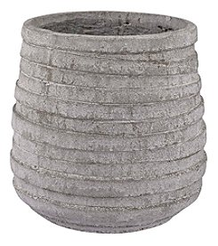 Dimond Barn Grey Corrugated Pot