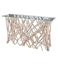 Dimond Teak Root Console Table