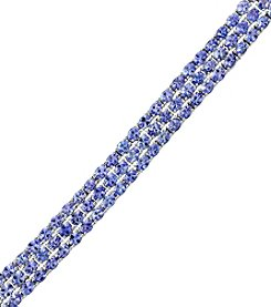 Effy Sterling Silver Three Row Oval Tanzanite Bracelet