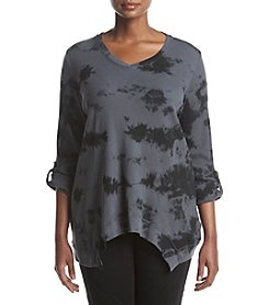 Calvin Klein Performance Plus Size Thermal V-Neck Knit Top
