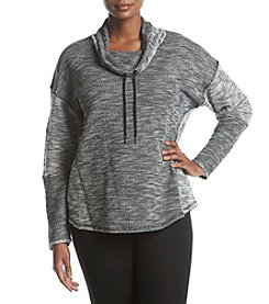 Calvin Klein Performance Plus Size Drawstring Cowl Neck Knit Top