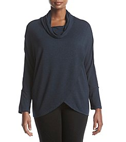 Calvin Klein Performance Plus Size Cowl Neck Knit Tunic