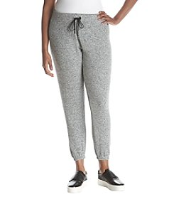 Calvin Klein Performance Plus Size Drawstring Brushed Knit Pants