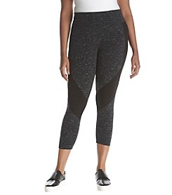 Calvin Klein Performance Plus Size Heathered Spliced Leggings
