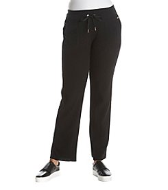 Calvin Klein Performance Plus Size Drawstring Thermal Knit Pants
