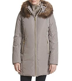 MICHAEL Michael Kors Faux Fur Trim Puffer Coat