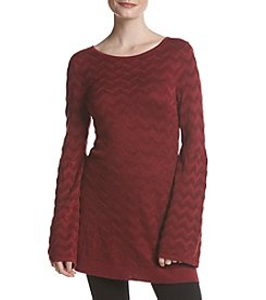 Fever Zigzag Bell Sleeve Tunic Top