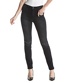 Jessica Simpson High Rise Skinny Destructed Jeans