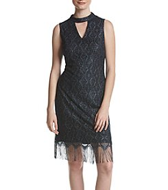 S.L. Fashions Crochet Gigi Shift Dress