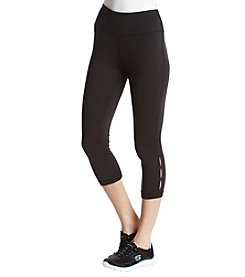 Exertek Keyhole Lattice Detail Crop Leggings