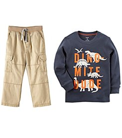 Carter's Boys' Dinosaur Tee and Pant Collection