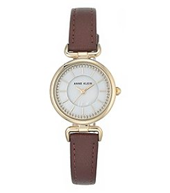 Anne Klein Women's Goldtone Mother Of Pearl Watch