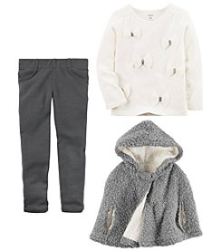 Carter's Girls' Poncho, Long Sleeve Top and Pants Collection