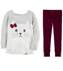 Carter's Girls' Sweater and Leggings Set