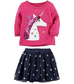 Carter's Girls' Unicorn Sweatshirt and Star Tutu Skirt Collection