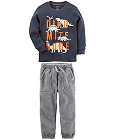 Carter's Boys' Long Sleeve Tee and Fleece Pants Collection