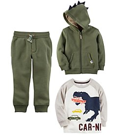 Carter's Boys Dino Hoodie, Tee and Pants Collection