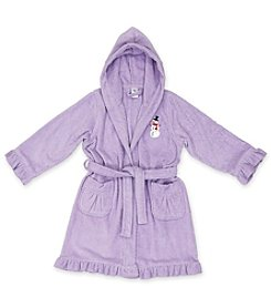 Linum Kid's Snowman Cotton Hooded Terry Bathrobe with Ruffles