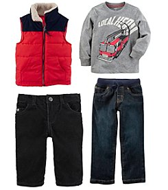Carter's Boys' Long Sleeve Top, Vest And Pants Collection