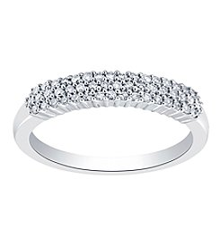 10K White Gold 0.25ct Diamond Band Ring