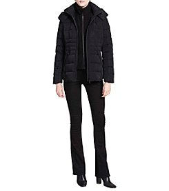 Calvin Klein Short Puffer with Contrast Bib Coat