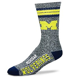 For Bare Feet NCAA® Michigan Wolverines Men's Four Stripe Crew