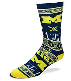 For Bare Feet NCAA® Michigan Wolverines Men's Graphic Crew Socks