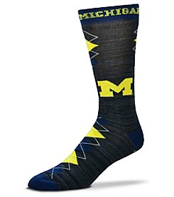 For Bare Feet NCAA® Michigan Wolverines Men's Fan Nation Crew Socks