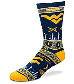 For Bare Feet NCAA® West Virginia Mountaineers Men's Graphic Crew Socks