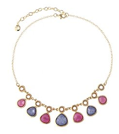 Gloria Vanderbilt Goldtone Frontal Necklace