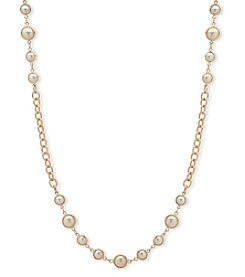 Anne Klein Goldtone Pearl Strand Necklace