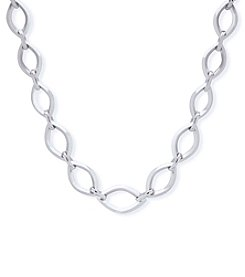 Anne Klein Silvertone All Around Collar Necklace