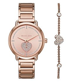 Michael Kors Women's Rose Goldtone Bracelet And Watch Set