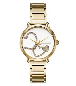 Michael Kors Women's Goldtone Heart Bracelet Watch
