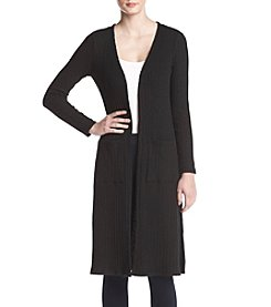 Kensie Slub Long Cardigan