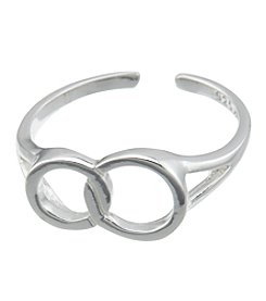 Marsala Sterling Silver Adjustable Infinity Toe Ring