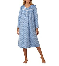 Aria Long  Pattern Fleece Nightgown