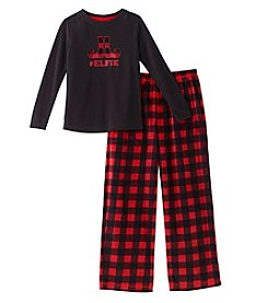KN Karen Neuburger Kids' Fleece Combo Pajama Set