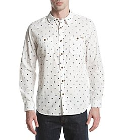 Ruff Hewn Men's Long Sleeve Star Print Workshirt