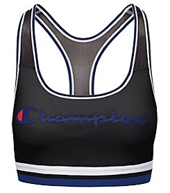 Champion Logo Graphic Mesh Sports Bra