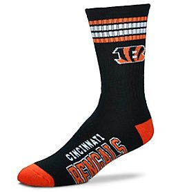For Bare Feet NFL® Cincinnati Bengals 4 Stripe Deuce Crew Socks